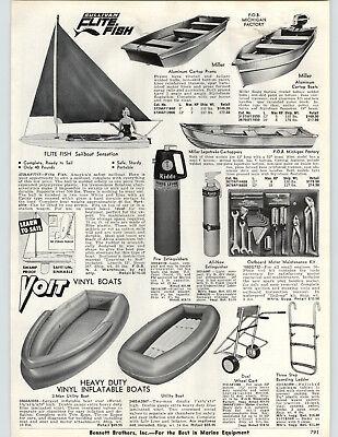 1962 PAPER AD Sullivan Flite Fish Sailboat Voit White Bear Water Skis