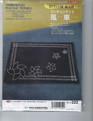 Pinwheel Place mat Sashiko Kit by Olympus