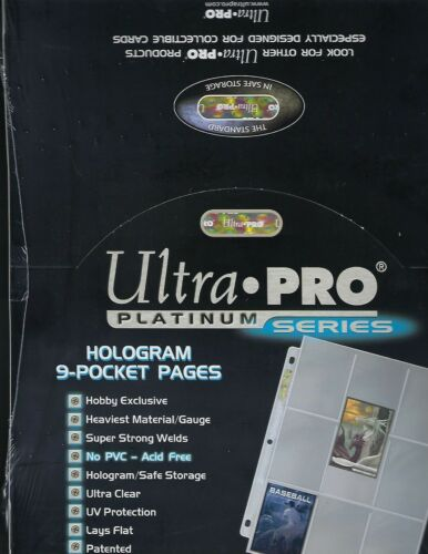 10 Ultra Pro PLATINUM 9 POCKET PAGES