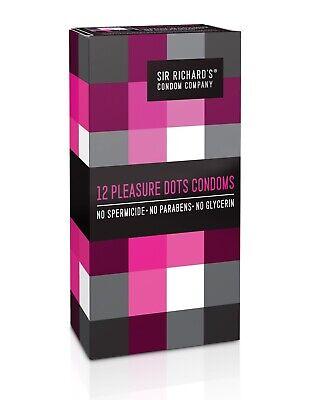 High Quality Dots - 12 Sir Richard's Pleasure Dots Latex Condoms, High Quality. World's Finest