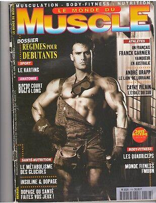 Le Monde Du Muscle  176 Bodybuilding Magazine Francois Benfatto 4 98  Fr