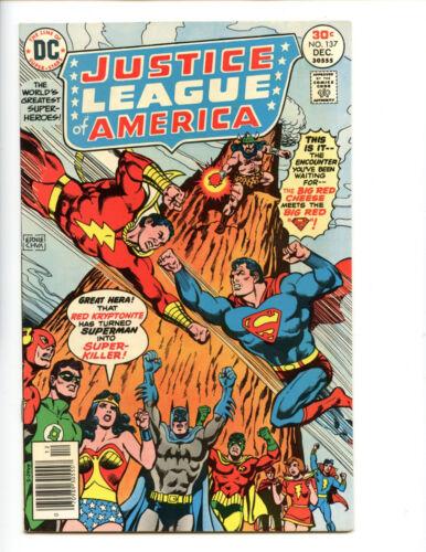 Justice League of America 137 key confrontation Superman vs Shazam