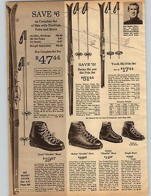 1965 PAPER AD Skis Bob Beattie U S Ski Team Commentator Cortina Squaw Valley