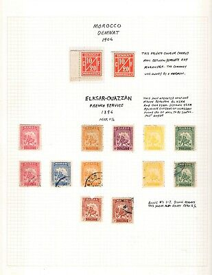 Kenr2: Morocco Private Post Stamps Collection on Pages
