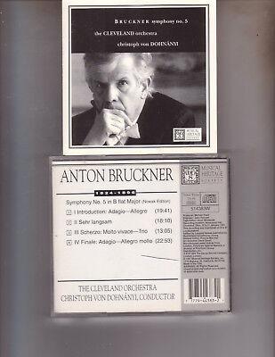Anton Bruckner Symphony NO. 5 Cleveland Orchestra 1997 Musical Heritage Issue