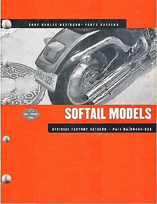 2002 Harley Softail FX/FL Springer Custom Heritage Fat Boy Parts Catalog Manual