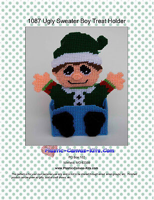 Christmas Ugly Sweater Boy Treat Holder-Plastic Canvas Pattern or Kit](Ugly Sweater Kits)