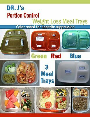 Weight Loss Portion Control System 3 Meal Trays   Eat   Still Lose Weight