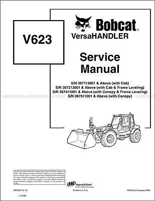 Bobcat V623 Versahandler Revision 2012 Update Printed Service Manual 6902407