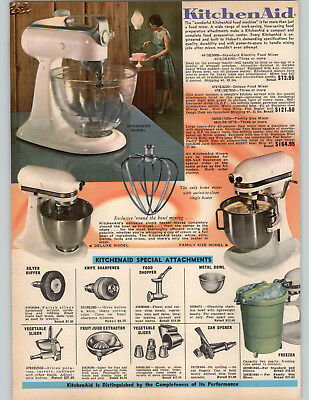 1967 PAPER AD Kitchenaid Electric Food Mixer 3 Models Standard Deluxe Family Siz
