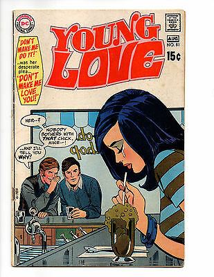 YOUNG LOVE 81 DC COMICS ROMANCE AUGUST 1970 DICK GIORDANO VINCE COLLETTA