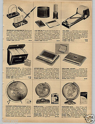 1958 PAPER AD Globe Hammond Commander Illuminated Inflatable Washable Brass Base](Inflatable Paper Ball)