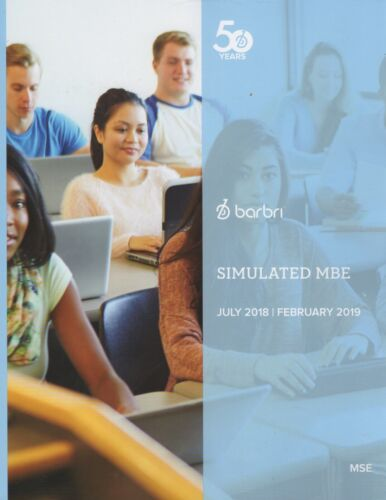 2018--2019--NEW--BARBRI MULTISTATE SIMULATED MBE-CAN USE FOR UBE