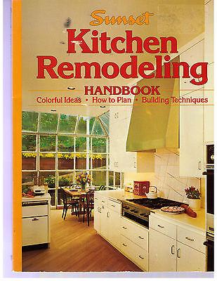 Vintage 1991 Sunset Book Kitchen Remodeling Handbook Bldg Techniques Colorful