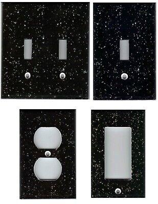 BLACK GRANITE IMAGE HOME DECOR LIGHT SWITCH PLATES AND - Black Light Decor