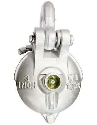 Snatch Block Yarding Block For 14 Wire Rope Cable Pulley 1.5 Tons 3 W Grease