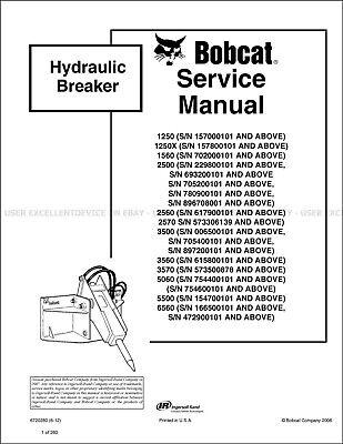Bobcat Hb1380 Hb2380 Hydraulic Breaker 2012 Printed Service Manual 6720280