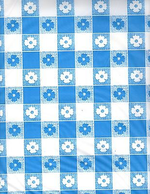 Blue and White Gingham table cover tablecloth plastic 54 x 108 (2 pieces) (Blue Gingham Plastic Tablecloth)