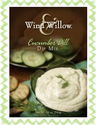 WIND AND WILLOW 1 Pack Cucumber Dill Dip Mix~For Chips, Veggies, Burger Topper!](Cucumber Snack)