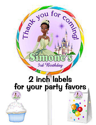 20 PRINCESS TIANA BIRTHDAY PARTY FAVORS STICKERS LABELS FOR YOUR FAVORS](Princess Tiana Party)