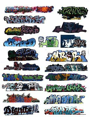 ( HO SCALE GRAFFITI DECALS 321 COVERED HOPPERS REEFERS  FULL PAGE 21 DECALS )