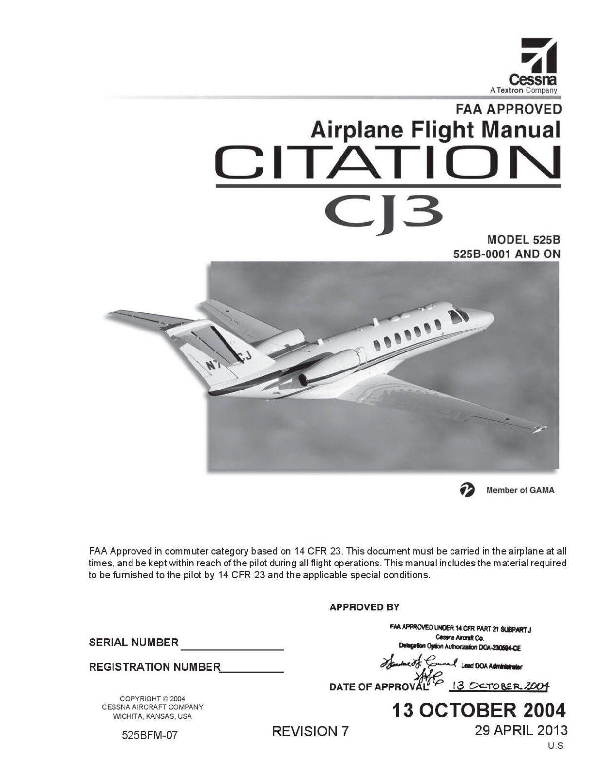 Citation CJ3 525B Flight Manual
