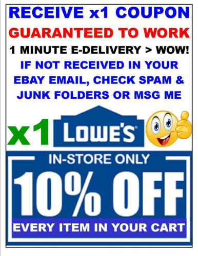 Lowes 10% OFF x1Coupon-SAVINGS - Lowe