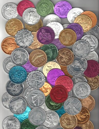 100 DIFFERENT MARDI GRAS DOUBLOONS COIN TOKEN LOT REX BACCHUS ENDYMION THOTH REX