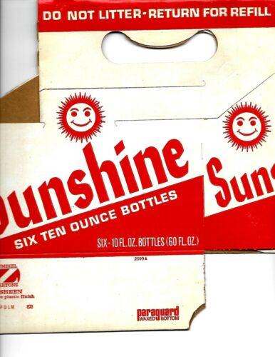 Vintage Sunshine Smiley Face Soda Pop Carton New Old Stock