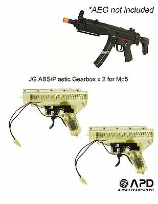 JG Airsoft AEG ABS Plastic Gearbox Mp5 mp7 mp5k x 2 two Internals Jing - Aeg Abs Gearbox