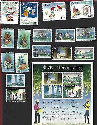 Nevis sc#159-68, 186-9 #189a Souvenir Sheet (1982-3) + #167-8 Specimen MNH