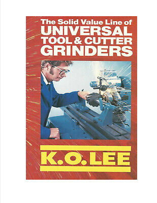 Ko Lee Tool And Cutter Grinders And The Accessories On Cd Over 80 Pages