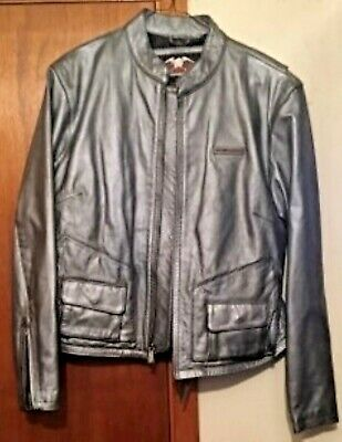 Harley-Davidson Gray Leather Jacket Womens Large RN103819 CA03402 for sale  Shipping to India