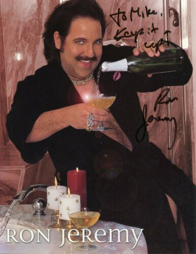 Ron Jeremy adult film porn star signed 8.5x11 photo