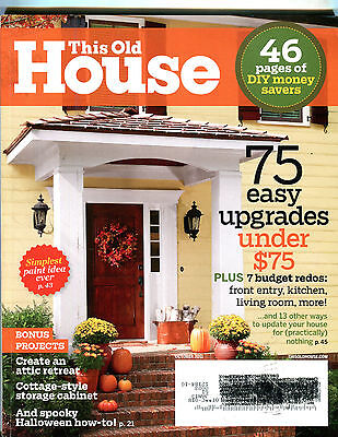 This Old House Magazine October 2012 75 Easy Upgrades Ex 070716Jhe