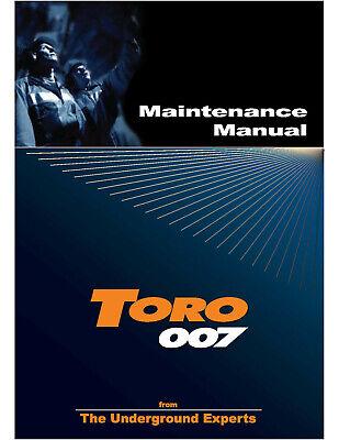 Toro Loader 007 Maintenance Manual Color Printed Spiral Bound
