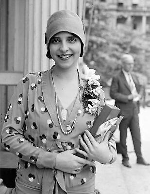 """1929 Miss Brazil Olga Bergamini de Sa Vintage Old Photo 8.5"""" x 11"""" Reprint"""