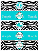Zebra Print Baby Shower Decorations