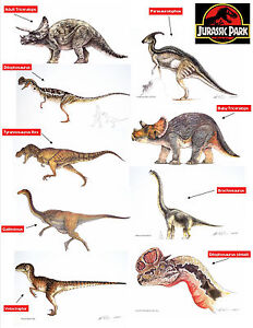 Jurassic-Park-Collection-Limited-Edition-Art-Prints-Individual-Dinosaur-Prints