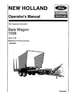 New Holland 1038bale Wagon Operators Manual