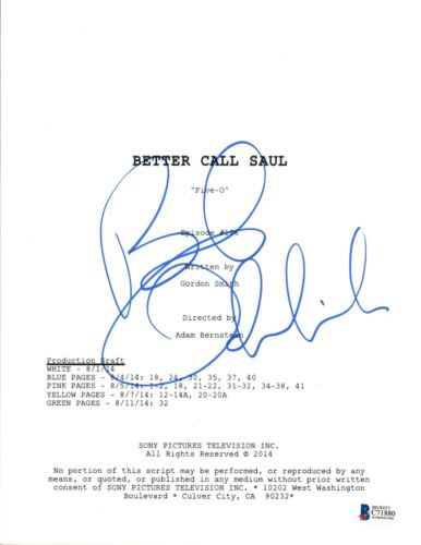 Bob Odenkirk Signed Autographed BETTER CALL SAUL Five-O Episode Script BAS COA