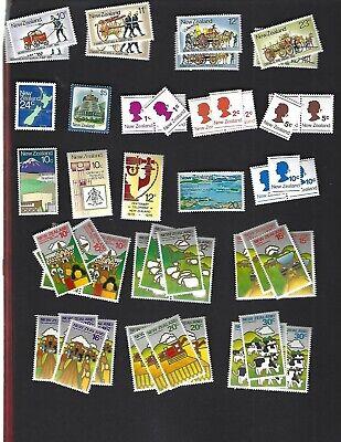 New Zealand sc#635-8 x2 #651-4 x3 #649-50, 656-9 #660-5 x4 (1977-8) MNH