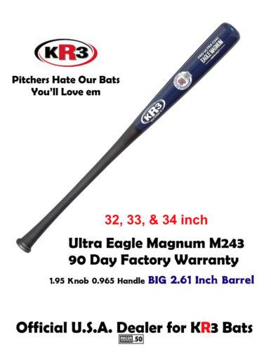 KR3 Eagle Ultra Large 2.61 Barrel Baseball Wood Bat C243 34 in 90 Day Warranty