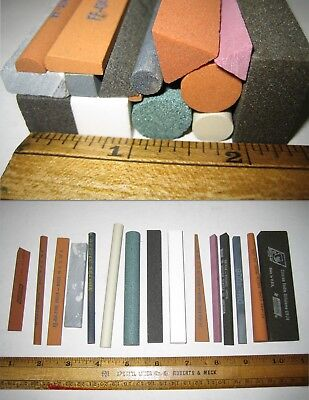 "HF33 3/"" x 3/"" x 3//8/"" Arkansas OIL STONE Square Abrasive File Sharpening Stones"