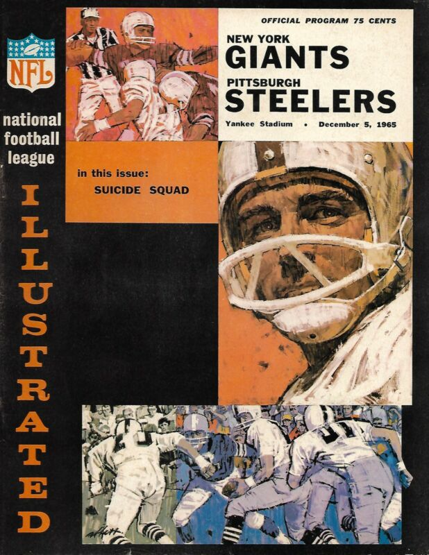 1965 New York Giants-Steelers Program Frederickson 3 TDs Giants Cruise NICE!!