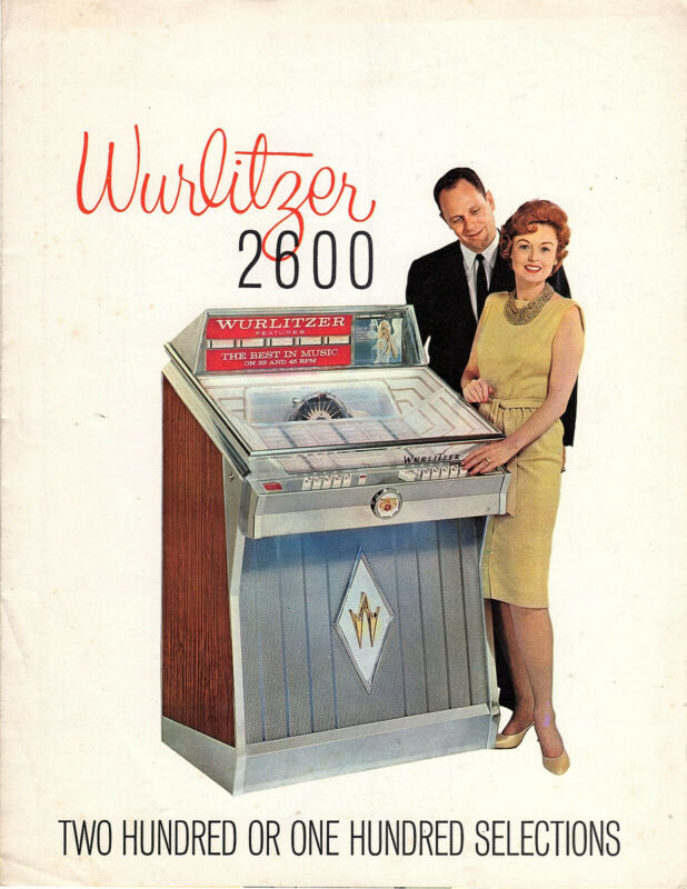 WURLITZER JUKEBOX 2600 - NEW CONDITION SALES BROCHURE - RARE
