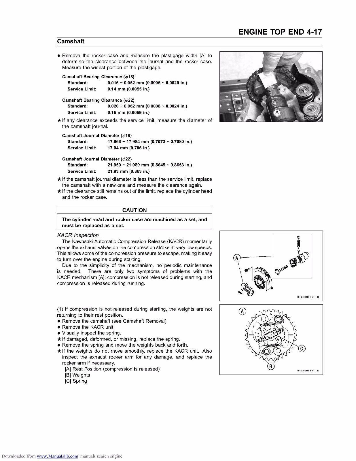 kawasaki prairie 650 service manual repair 20022003 kvf