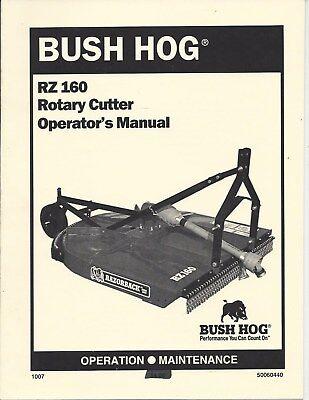 Bush Hog Model Rz160 Rotary Cutter Operator Manual 50060440