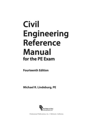 PE Exam Civil CERM 14th Ed + NCEES Practice Exam Water Resources Environmental