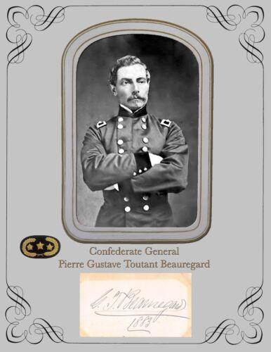 Civil WarConfederate General Pierre Gustave Toutant Beauregard Photo & Autograph